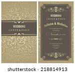 wedding invitation cards ... | Shutterstock .eps vector #218814913