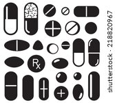 pills and capsules icon | Shutterstock .eps vector #218820967