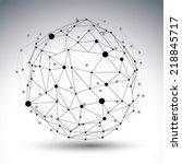 3d mesh modern network abstract ...   Shutterstock .eps vector #218845717