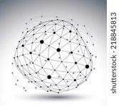 modern digital contrast... | Shutterstock .eps vector #218845813