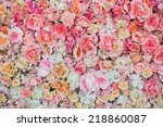 Stock photo beautiful flowers background for wedding scene 218860087