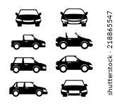 car design over white... | Shutterstock .eps vector #218865547