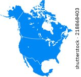 north america | Shutterstock .eps vector #218868403