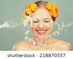 Beauty Happy Laughing Girl Wit...