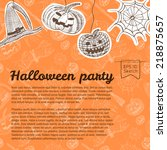 halloween   border layout  | Shutterstock .eps vector #218875657