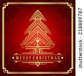christmas tree art deco style....   Shutterstock .eps vector #218889787