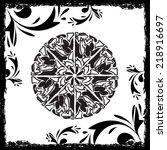 abstract mandala in grunge