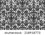 seamless background damask.... | Shutterstock .eps vector #218918773