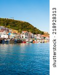 scarborough  north yorkshire ...   Shutterstock . vector #218928313