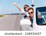 traveling with fun. happy young ... | Shutterstock . vector #218933437