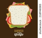 food design over brown...   Shutterstock .eps vector #218948383