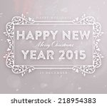 christmas typographic label for ... | Shutterstock .eps vector #218954383
