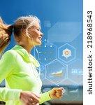 sport  training  technology and ... | Shutterstock . vector #218968543
