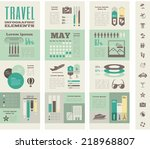 travel infographic template. | Shutterstock .eps vector #218968807