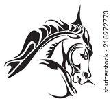 tattoo design of horse head ... | Shutterstock .eps vector #218972773