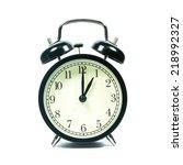alarm clock on white background.... | Shutterstock . vector #218992327