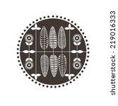 vector scandinavian floral... | Shutterstock .eps vector #219016333