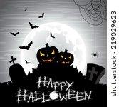 illustration on a halloween... | Shutterstock . vector #219029623
