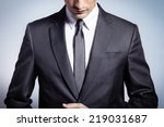 male model in a suit | Shutterstock . vector #219031687