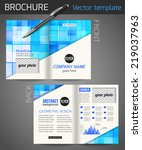 set of corporate business... | Shutterstock .eps vector #219037963