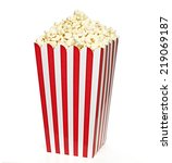striped big popcorn box... | Shutterstock . vector #219069187