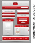web user interface element set
