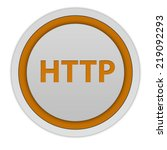 http circular icon on white... | Shutterstock . vector #219092293