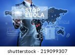 man in suit making decision on...   Shutterstock . vector #219099307