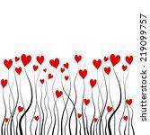 hearts plant. vector | Shutterstock .eps vector #219099757
