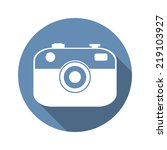camera icon. long shadow design ...