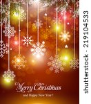 merry christmas and happy new... | Shutterstock .eps vector #219104533