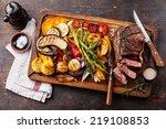club beef steak with pepper...   Shutterstock . vector #219108853