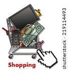 shopping cart symbol with...