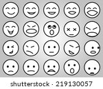 emotion face icons set | Shutterstock .eps vector #219130057
