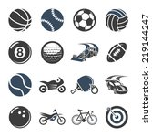 sport icon set | Shutterstock .eps vector #219144247