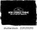 design template.abstract grunge ... | Shutterstock .eps vector #219155293