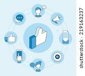 social media marketing concept  ... | Shutterstock .eps vector #219163237