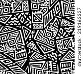 seamless pattern of hand drawn... | Shutterstock .eps vector #219163327