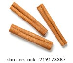 Cinnamon Sticks On White...