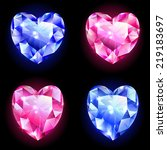 set of icons  diamonds in the... | Shutterstock .eps vector #219183697