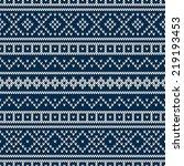 seamless pattern ornament on... | Shutterstock .eps vector #219193453