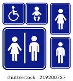 vector illustration toilette... | Shutterstock .eps vector #219200737