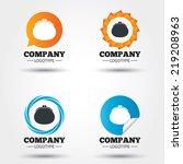 wallet sign icon. cash bag... | Shutterstock .eps vector #219208963