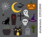 halloween icon | Shutterstock .eps vector #219213043