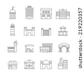 government building icons... | Shutterstock .eps vector #219220357
