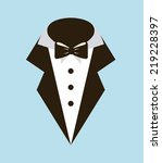 Fashion illustration  Suit and Tie