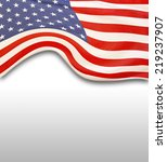 closeup of american flag on... | Shutterstock . vector #219237907