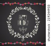 happy holiday card | Shutterstock .eps vector #219244933