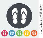 beach slippers. single flat... | Shutterstock .eps vector #219270523