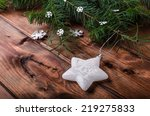 christmas ornament with pine... | Shutterstock . vector #219275833